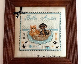 "PDF Cross Stitch Pattern ""Best Friends"""
