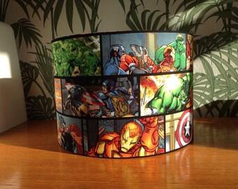 Marvel Avengers fabric handmade lampshade - various sizes