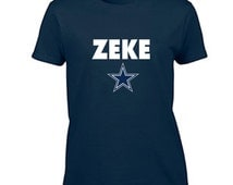 Dallas Cowboys Women's T Shirt Ezekiel Elliott Zeke Fan Inspired Tee Classic Traditional Fit