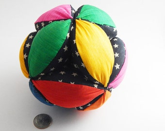 Grab it ball soft baby toy brightly colored ball OOAK childs toy