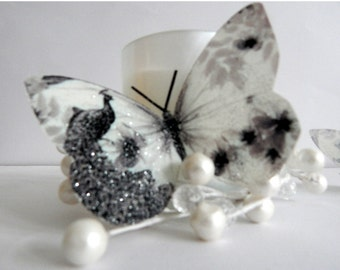 6 3d Black and White butterflies lounge, hall, consevatory