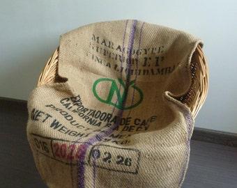 Bag coffee burlap 70s vintage