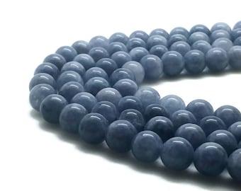 Round Natural Aquamarine Beads Strand 3∼12mm March Birthstone Strand Blue Aquamarine Gemstone Blue Beads Blue Mala Aquamarine Round