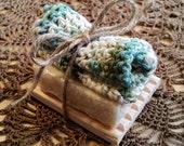 Artisan Soap Set - Soap, Soap Deck and Cotton Cloth