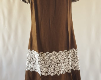 Vintage 60s Chocolate Minidress