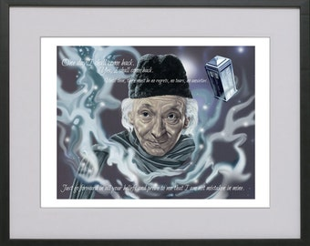 The First Doctor - William Hartnell. 'One day I shall come back...'
