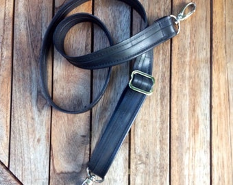 Adjustable Shoulder Strap out of Reused Bike Tube - Sustainable / Vegan