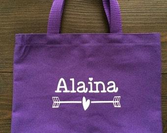Small Personalized Tote Bag; Kids Tote; Kids Bag; Custom Tote Bag; Christmas Gift; Holiday Gift; Birthday Gift