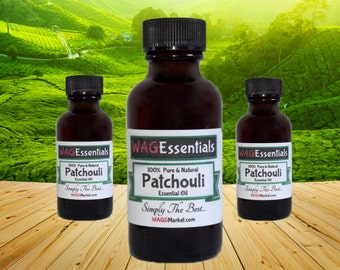 PATCHOULI Essential Oil - (1oz / 30mL) Amber Glass Bottle *** Free U.S. Shipping ***