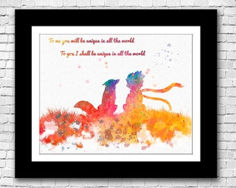 The Little Prince and Fox Quote - Buy 2 get one Free