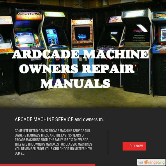 ARCADE MACHINE SERVICE and owners manuals from last 35 years of retro games cabinet bar top mame huge pack all arcade machines