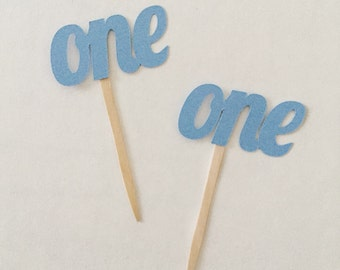 One Cupcake Toppers, First Birthday Toppers