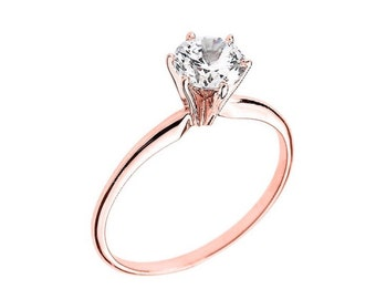 Solid 14k Classic solitaire engagement ring