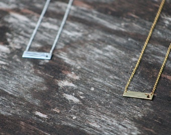 Michigan Necklace - Small Bar | Michigan Jewelry | Silver Michigan Necklace | Gold Michigan Necklace | Michigan Gift | Gift for Wife | Gift
