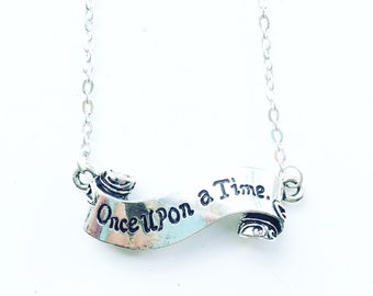 Once upon a time scroll necklace