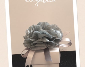 Spring Summer Inspiration - 10 x Wedding Favour Boxes with Ribbon Tie and/or Diamante or Flower Dressage