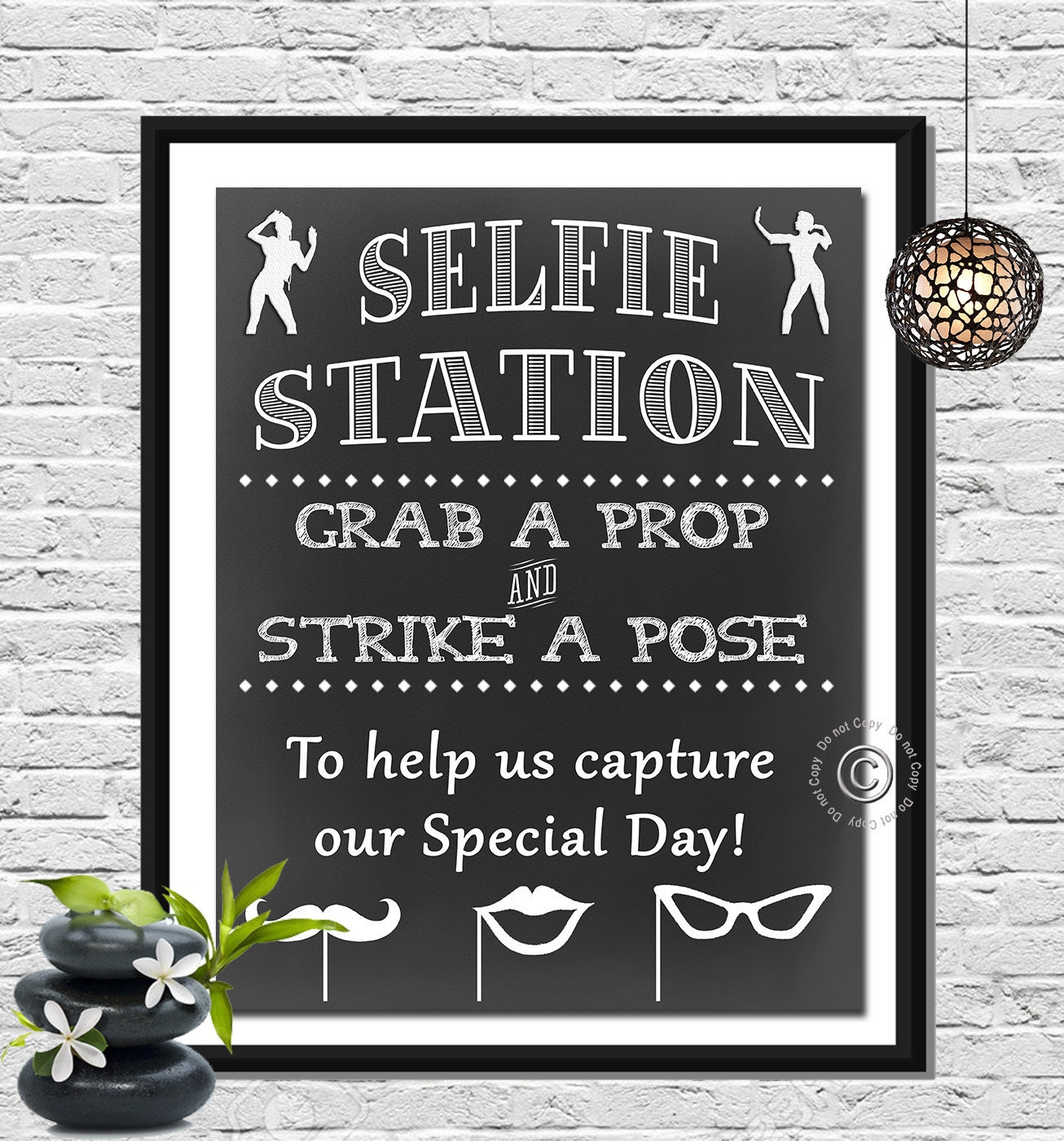 Photo Booth Sign Selfie Station Poster 5x7 8x10 And 11x14