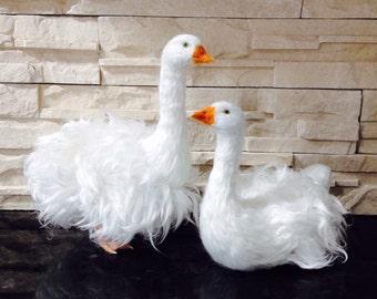 Needle Felted Sebastopol Goose Made to Order
