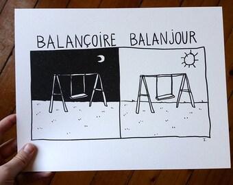 Printed design - swing balanjour
