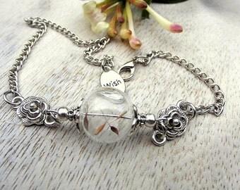Bracelet dandelion wish dandelion