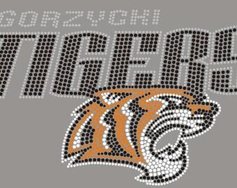 Gorzycki Tigers T-Shirt in Rhinestones and Metal Studs