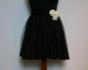 Tulle skirt layered look - black beauty