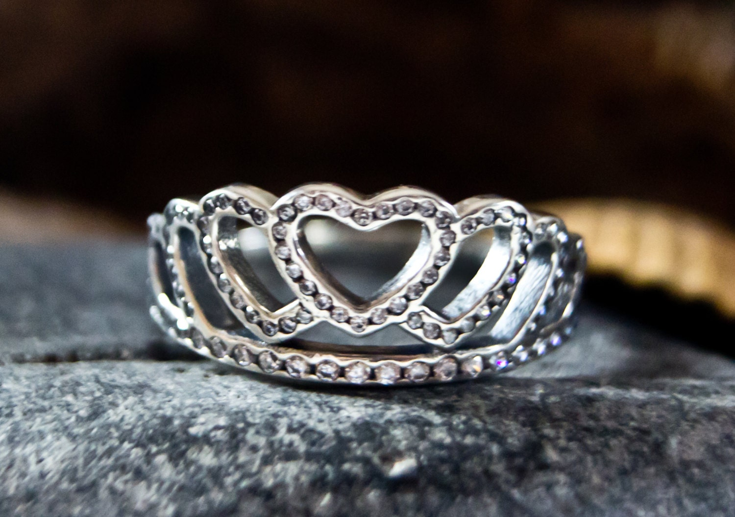 authentic pandora hearts tiara ring s925 by. Black Bedroom Furniture Sets. Home Design Ideas