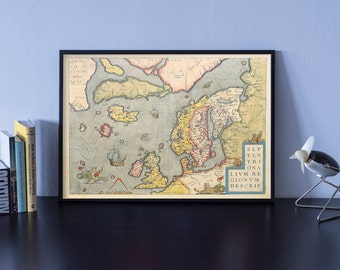 Old map of Europe, Old World Map, Map Decor, Cartography, Retro Decor, Old Maps, Map Print, Retro Decor, World Map, Vintage Map