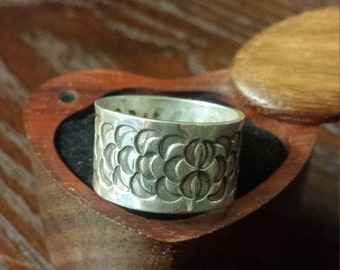 Sterling Silver Hand Stamped Band