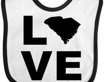 Love South Carolina Baby Bib by Inktastic