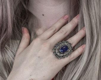 Adjustable Lapis Lazuli Ring