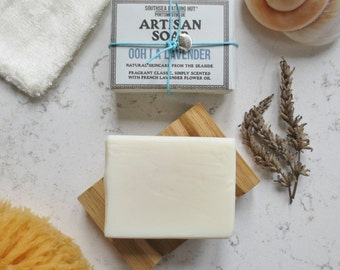 Lavender Soap with Dish - Artisan Soap from the Coast // Handmade Soap, Natural Soap, Vegan Soap, Lavender, Skincare, Essential Oil