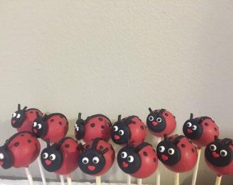 12 ladybug cake pops