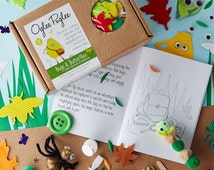 Bugs & Butterfly craft kit, story and kids activity ideas. Can be personalised. Perfect for rainy days and a Birthday gifts