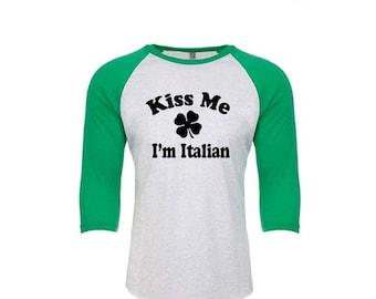 UNISEX St Patrick's Shirts, St Patricks Day, Kiss Me I'm Irish, Green Tank Top, Funny Shirts, Workout Shirt, Baseball Shirt, Workout Shirts
