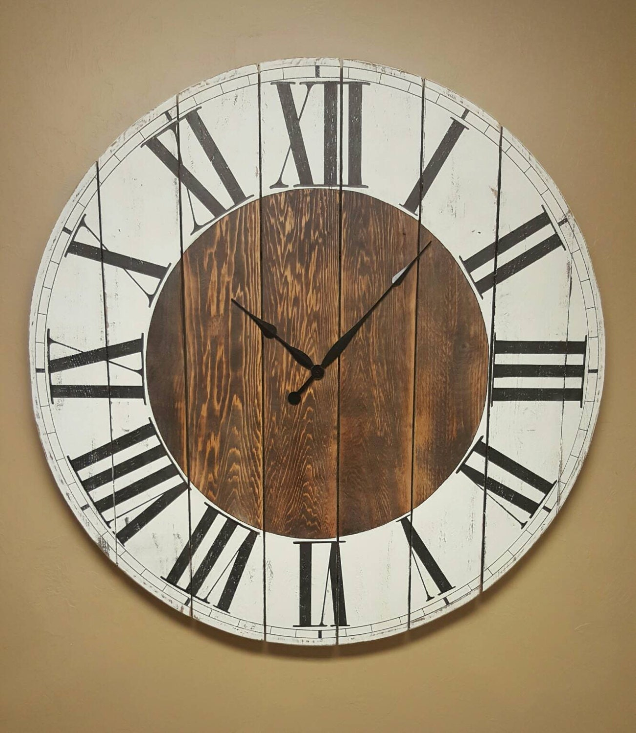 Large Abigail Farmhouse Clock Fixer Upper Clock