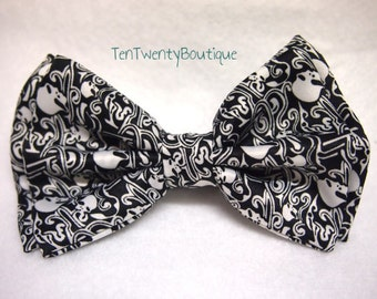 Scary Skulls Bow Tie - Skull Bowtie Pattern Unisex Adjustable Strap A