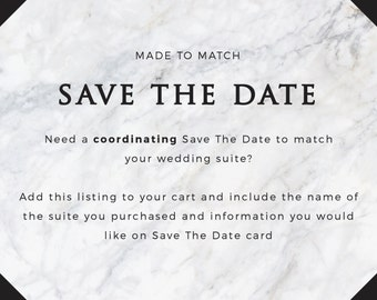 Coordinating Save The Date Card