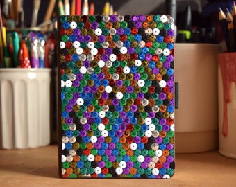Notebook, sequins cover.