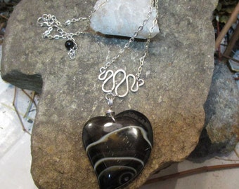 C-144 chain necklace, agate stone,-free shipping