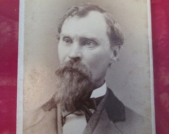 Antique Civil War Era CDV Photograph - Man with Beard / J A Reed's Photographer
