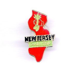 Vintage New Jersey Garden State Hat/Lapel Pin