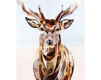 Giclee stag print