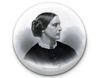 Susan B. Anthony Feminist Suffrage Vote Women Pinback Button // Pin // Badge
