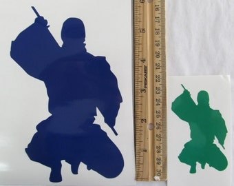 Vinyl Gamer RPG Car Window Decal Sticker Male Ninja Assassin Rogue with Sword Silhouette Role Playing Game Gaming D&D Dungeons Dragons