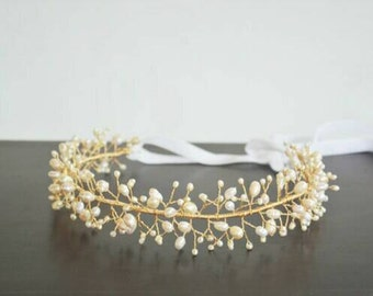 Bridal Headband Boho Wedding Crown Head Piece Bridal Crown Headpiece Wedding Headband Bride Hair Accessories Bridal Tiara Gold Crown