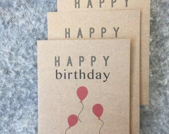 The Balloon Birthday Card Set (Kraft)