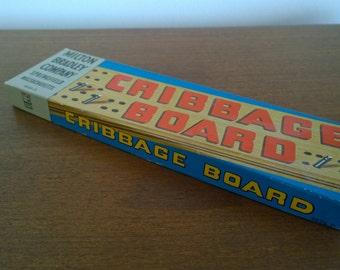 Milton Bradley Cribbage Board in Box 1970s