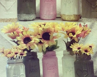 Wedding decorations; handmade