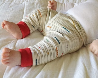 Organic Abacus -  Baby Leggings / Baby Harem Shorts / Baby Harem Pants / Toddler Harem Shorts / Harem Pants / Baby Pants